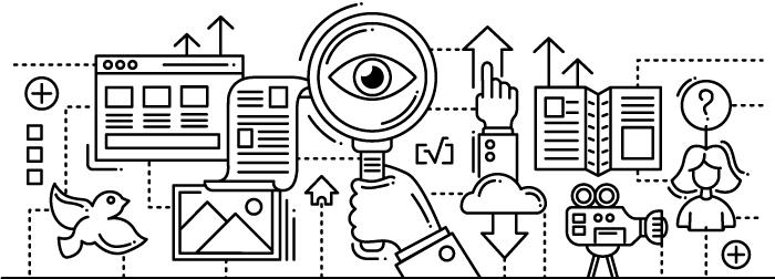 diseño ilustrativo de herramientas tecnológicas
