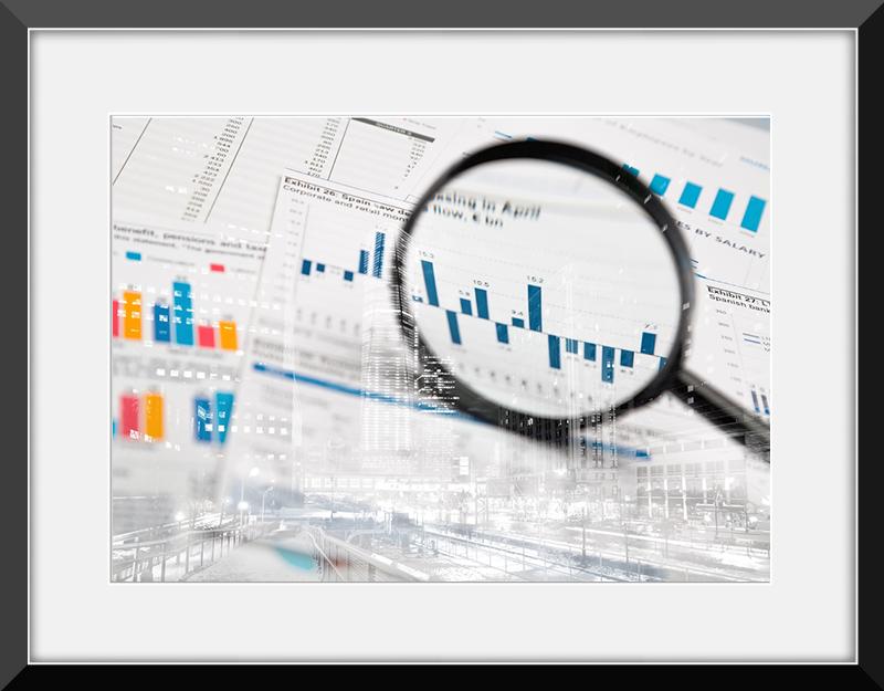 hojas de cálculo de presupuesto y gráficos